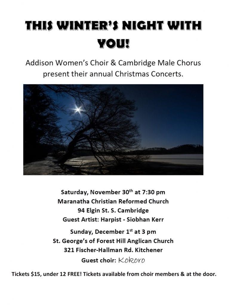 Christmas 2019 Concert Schedule